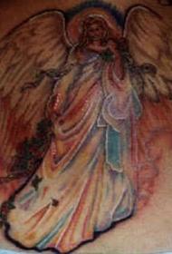 七彩的天使纹身图案