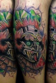 new school彩色的恶魔怪物手臂纹身图案