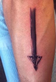 3D黑色的箭头手臂纹身图案