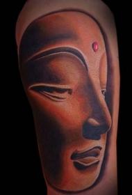 手臂令人敬畏的佛像纹身图案