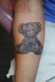 手臂邪恶泰迪熊玩偶纹身图案