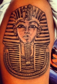 手臂诶及法老面具纹身图案