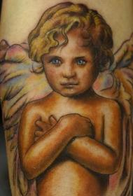 小天使五颜六色纹身图案