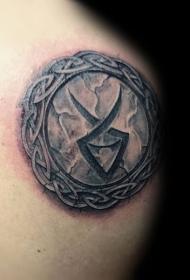 凯尔特图腾小圆形纹身图案