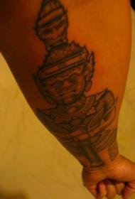小臂佛像纹身图案