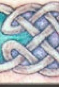 凯尔特结花纹臂环纹身图案