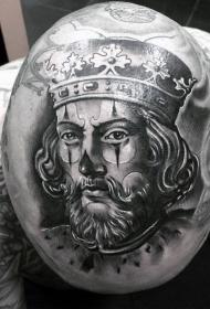 头部中世纪国王小丑纹身纹身图案