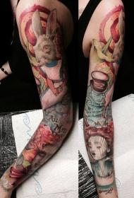 手臂爱丽丝童话各种卡通纹身图案