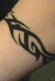 黑色经典部落手镯纹身图案
