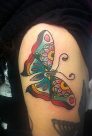 传统创意蝴蝶纹身图案