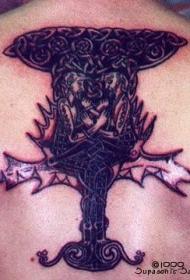 凯尔特结巨型树纹身图案