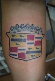 凯迪拉克汽车标志纹身图案