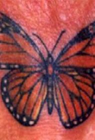 写实的帝王蝴蝶纹身图案