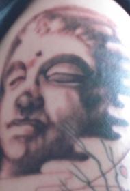 神秘的佛祖头像纹身图案