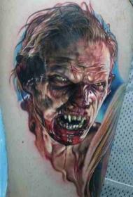 邪恶的僵尸刺青纹身图案