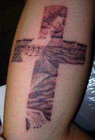 十字架风格纹身图案