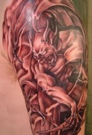 逼真的怪兽恶魔纹身图案