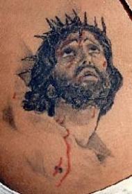 流着血的耶稣纹身图案