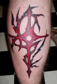 部落风格红十字架纹身图案