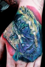 首尔比逼真的彩色著名电影英雄肖像纹身图案