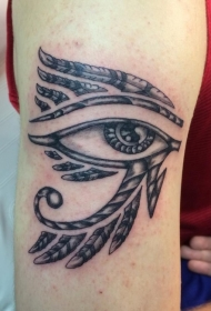 羽毛装饰埃及古代象征荷鲁斯之言纹身图案
