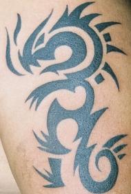 简约的部落龙图腾纹身图案
