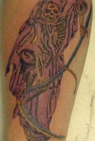 紫色披风的死神纹身图案