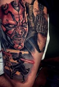 很酷的各种电影邪恶英雄人物纹身图案
