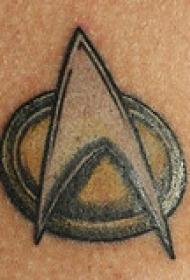 简单的星迹符号纹身图案
