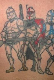 手臂彩色星球大战冲锋队纹身图片