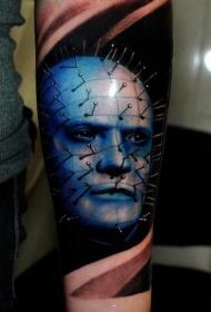 手臂彩色电影恐怖人物纹身图案