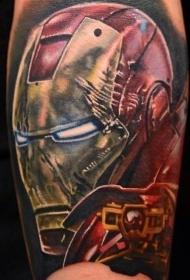 手臂彩色腐烂男子面具纹身图案