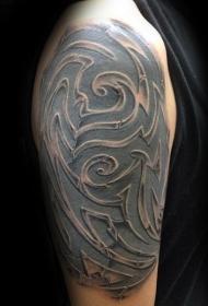 彩色肩纹身古代部落装饰纹身图案