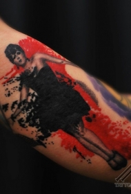 PS图象处理软件风格的彩色性感女人纹身图案