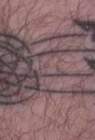 黑色部落袖标纹身图案