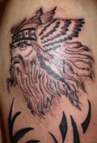 手臂海盗头像纹身图案