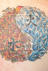 水火八卦纹身