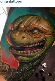 手臂逼真彩色忍者龟图案