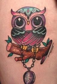 有帅气或很萌很可爱的猫头鹰纹身图案欣赏