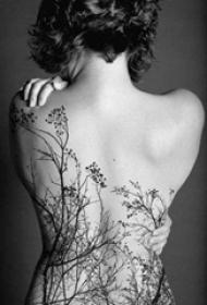 女生喜爱的个性且文艺纹身图案