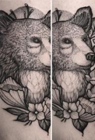 狐狸纹身 男生手臂上狐狸纹身图片