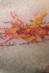 男生胸部彩绘渐变抽象线条创意纹身图片