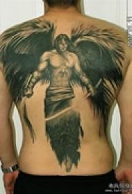 后背堕落天使路西法纹身