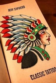 多款彩绘技巧抽象线条创意纹身手稿