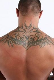 兰迪奥顿后背图腾纹身图案