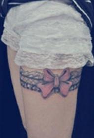 炫彩个性腿部纹身