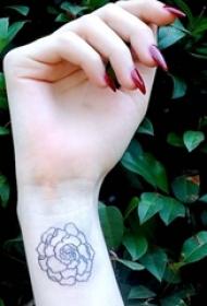 12款纹身黑白灰风格几何元素纹身简单纹身小图案