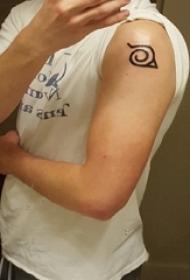 纹身符号 女生手臂上黑色纹身符号图片