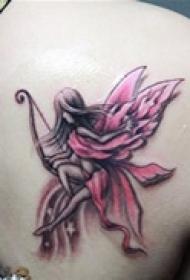 优美可爱天使图案纹身
