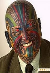 艺术大师全脸纹身